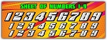 Number Sheet Font 1