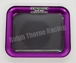 Purple Aluminum Parts Tray With Magnet