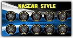Stock Car Front Wheel Stickers