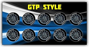 GTP Front Wheel Stickers