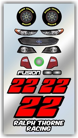 #22 Ford Decal Kit