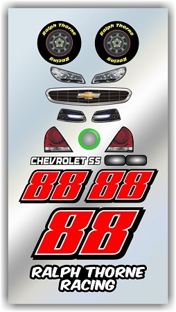 #88 Chevy Decal Kit